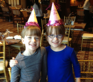 The twins on their actual ninth birthday